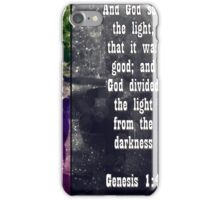 Genesis 1:4 ~ And God saw the light  iPhone Case/Skin