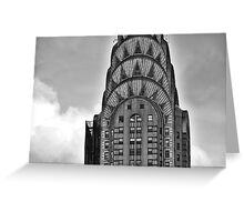 The Chrysler Building , New York, detail ..B& W  Greeting Card