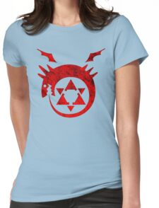°MANGA° Full Metal Ouroboros Rust Logo Womens Fitted T-Shirt
