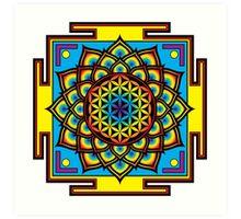 Flower of Life Psychedelic Mandala Art Print