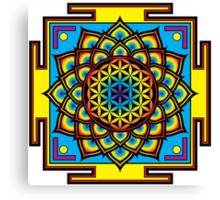 Flower of Life Psychedelic Mandala Canvas Print