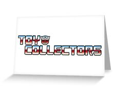 Transformers Toy Collector Logo Greeting Card