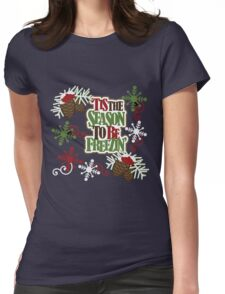 SEASON TO BE FREEZING Womens Fitted T-Shirt