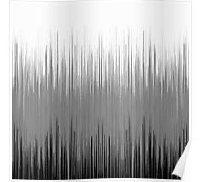 Black and White Thin Line Background Poster