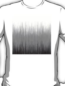 Black and White Thin Line Background T-Shirt