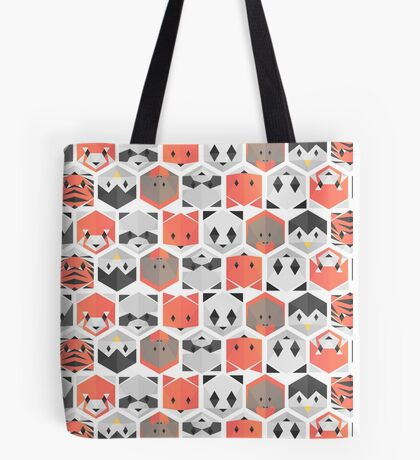 Animals honeycomb Tote Bag