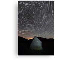 Star Trails over Blencathra in the English Lake District Canvas Print