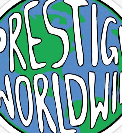 Prestige Worldwide logo - Step Brothers Movie Sticker