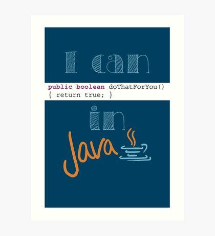 Do It in Java Art Print