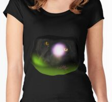 Wild Eyes Series - The Black Leopard Women's Fitted Scoop T-Shirt