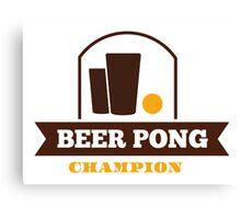 Beer Pong Champion Canvas Print