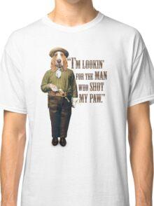 Cowboy Dog with a Gun Classic T-Shirt