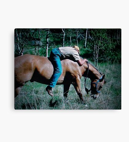 """Cowboy Recliner"" Canvas Print"