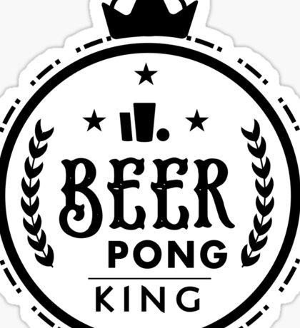Beer Pong King Sticker
