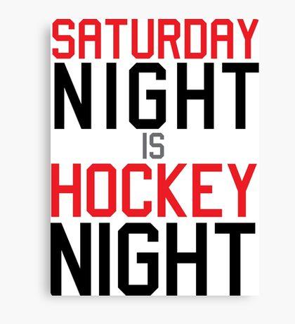 Hockey Night Canvas Print