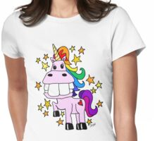 Magical Rainbow Unicorn Womens Fitted T-Shirt
