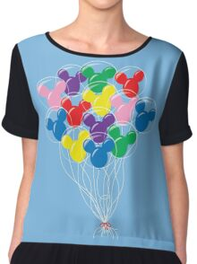 Mickey Balloons Chiffon Top