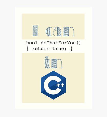 Do It in C++ Art Print