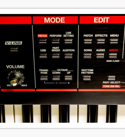 Roland Keyboard Sticker