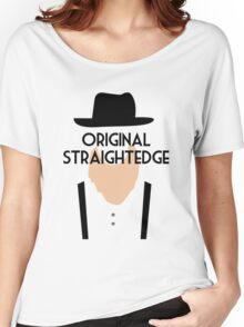 Original Straight Edge Drug Free Funny Amish Women's Relaxed Fit T-Shirt