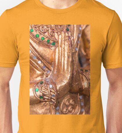 Sawadee! Hände von Buddha Figur Unisex T-Shirt