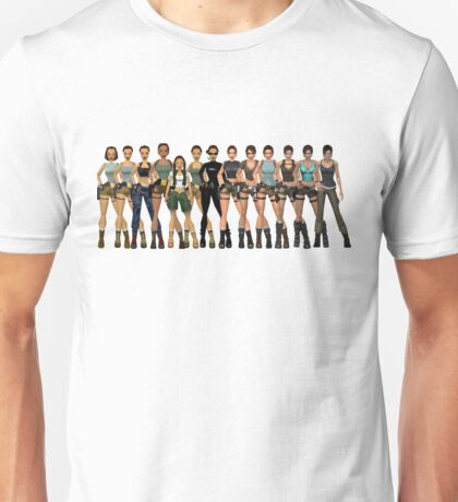 Tomb Raider Lara Croft All Generations Unisex T-Shirt