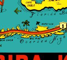 Florida Keys Vintage Travel Decal Sticker