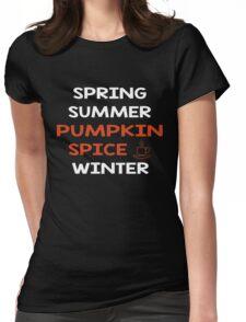 Pumpkin Spice Shirt Coffee Tee Womens Fitted T-Shirt