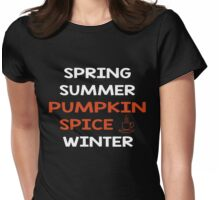 Pumpkin Spice Shirt Coffee Tee Womens Fitted T-Shirt