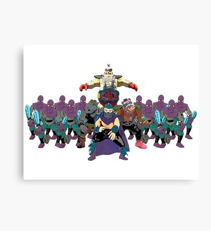 Shredder, Krang, Rocksteady, Bebop, Foot Clan, OH MY!  Canvas Print