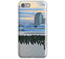Cruise Ship Aidaluna On The Hudson River iPhone Case/Skin
