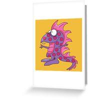 Funny Purple People Eater / Dinosaur Greeting Card