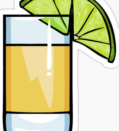 Tequila and Lime sticker Sticker