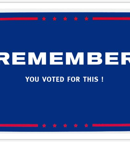 Remember.... Sticker