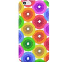 Funny colorful abstract flower pattern in rainbow colors iPhone Case/Skin