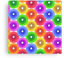 Funny colorful abstract flower pattern in rainbow colors Canvas Print