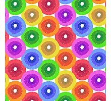 Funny colorful abstract flower pattern in rainbow colors Photographic Print