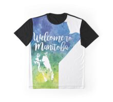 Manitoba Watercolor Map - Welcome to Manitoba Hand Lettering Graphic T-Shirt