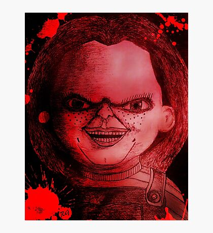 Scary Slasher  Doll Photographic Print