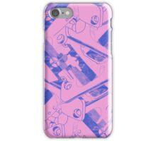 Pink, Blue Biro  iPhone Case/Skin