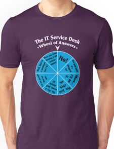 The IT Service Desk Wheel of Answers. Unisex T-Shirt