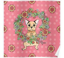 Cute puppy. French bulldog. My lovely.  Poster