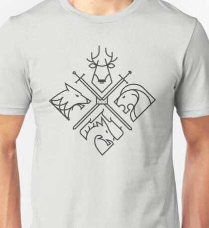 Minimal Thrones BLK edition Unisex T-Shirt