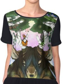 God of the Forrest Chiffon Top