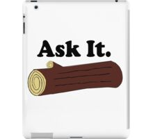 Twin Peaks Ask It Log iPad Case/Skin