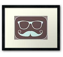 Movember Geek Framed Print