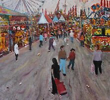 Ekka side show alley no1 by Howard Sparks