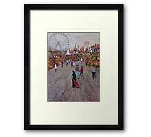 Ekka side show alley no1 Framed Print