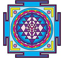 Sri Yantra Mandala Photographic Print