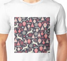 Vintage Retro Christmas Pattern Holiday Unisex T-Shirt